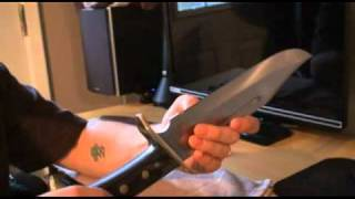 Repeat youtube video Knife review huge timber rattler bowie