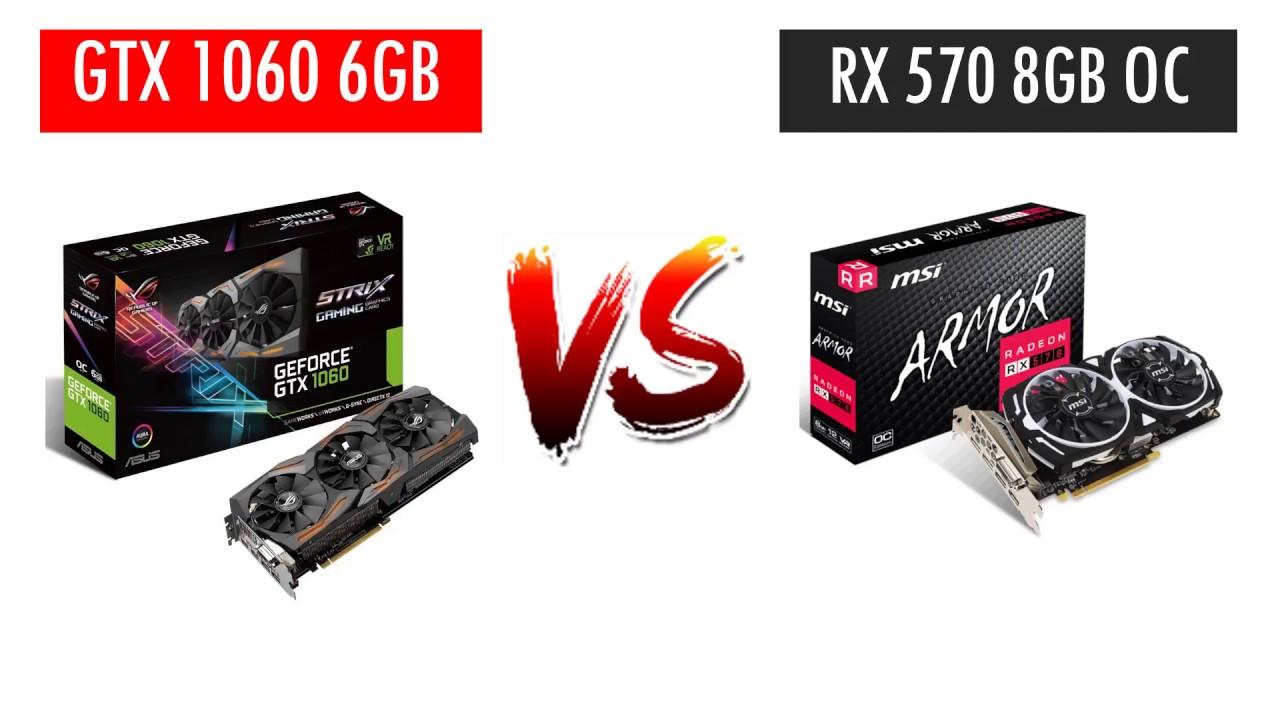 GTX 1060 6GB vs RX 570 8GB OC - AMD Ryzen 5 2400G - Benchmarks Comparison