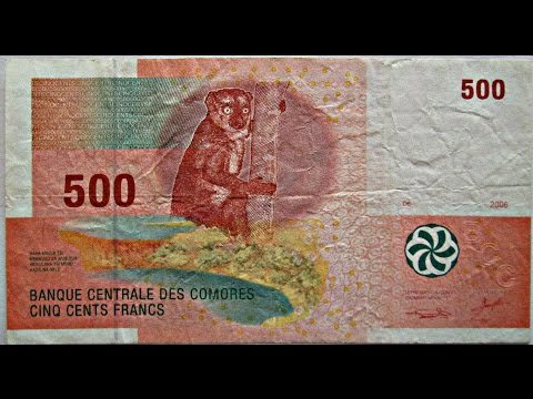 Comoros, 500 francs, 2006