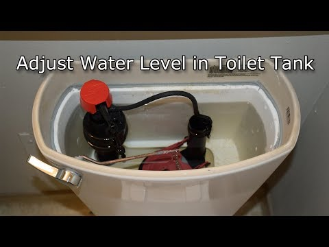 Adjust Water Level In Toilet Tank (How To)
