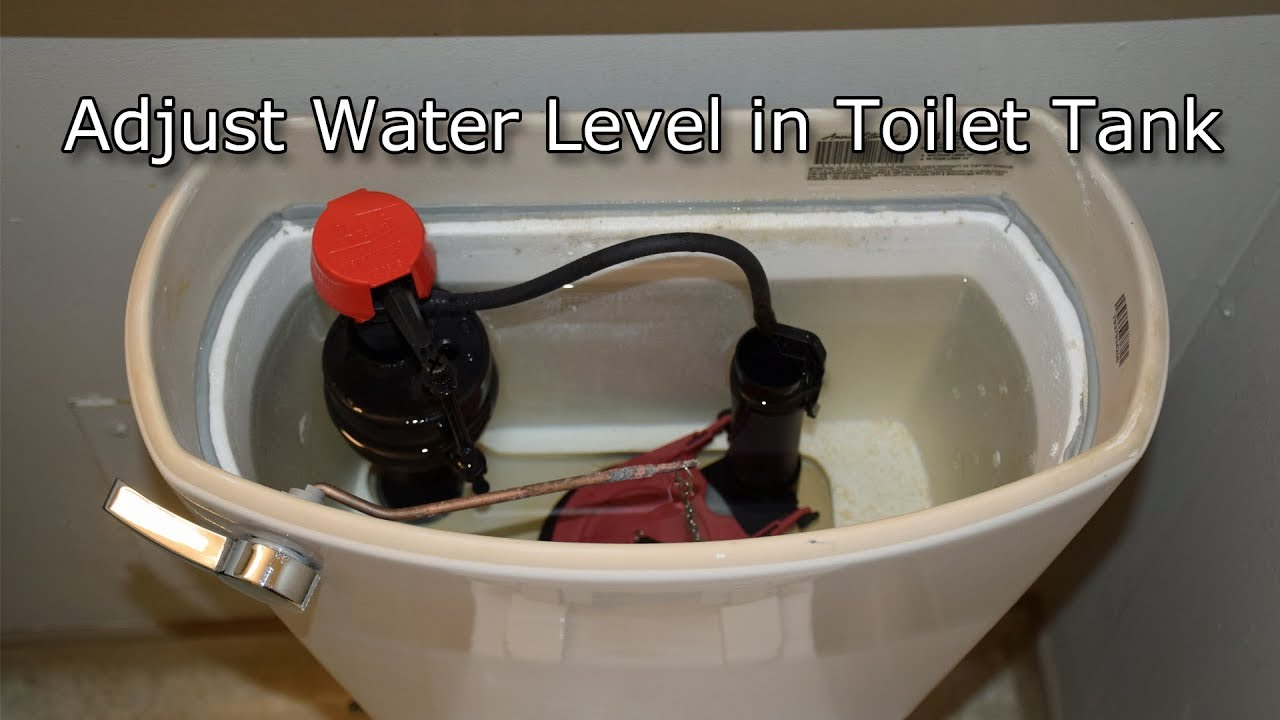 how to adjust toilet water level