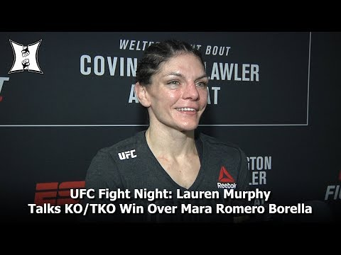 UFC Fight Night: Lauren Murphy Talks KO/TKO Win Over Mara Romero Borella In Newark, NJ