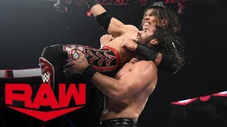 Seth Rollins vs. Humberto Carrillo: Raw, Oct. 21, 2019