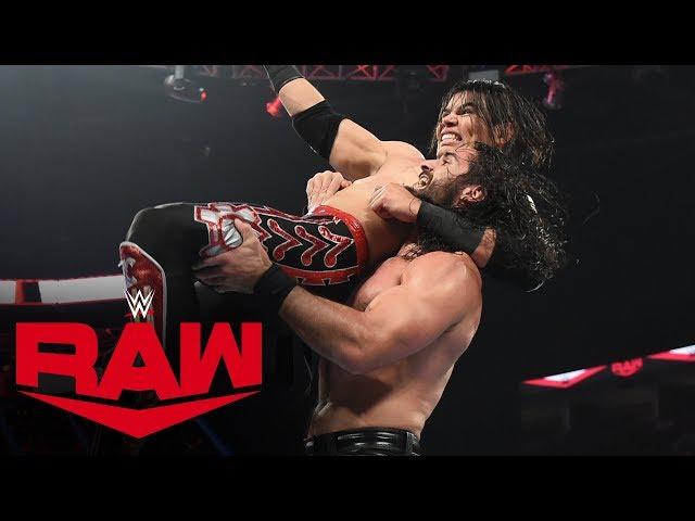 Seth Rollins vs. Humberto Carrillo: Raw, Oct. 21, 2019