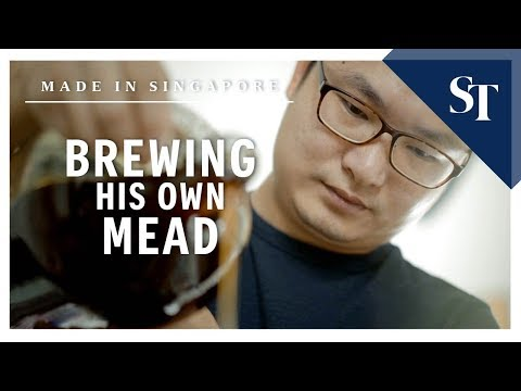 Brewing his own mead | Made in Singapore| The Straits Times