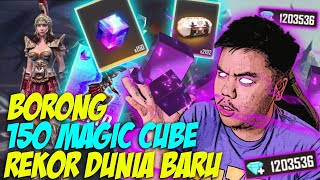 BORONG SKIN MAGIC CUBE BARU AUTO TOP GLOBAL 150 MAGIC CUBE!!! REKOR DUNIA!!  FREE FIRE INDONESIA