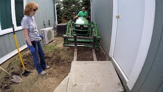 Redneck Sidewalk, Do Not Try at Home, Advantage of John Deere AutoConnect Mower and Quick Attach