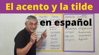 El acento y la tilde en español
