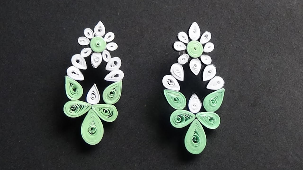 Diy Quilling Earring Design New Concept 2017