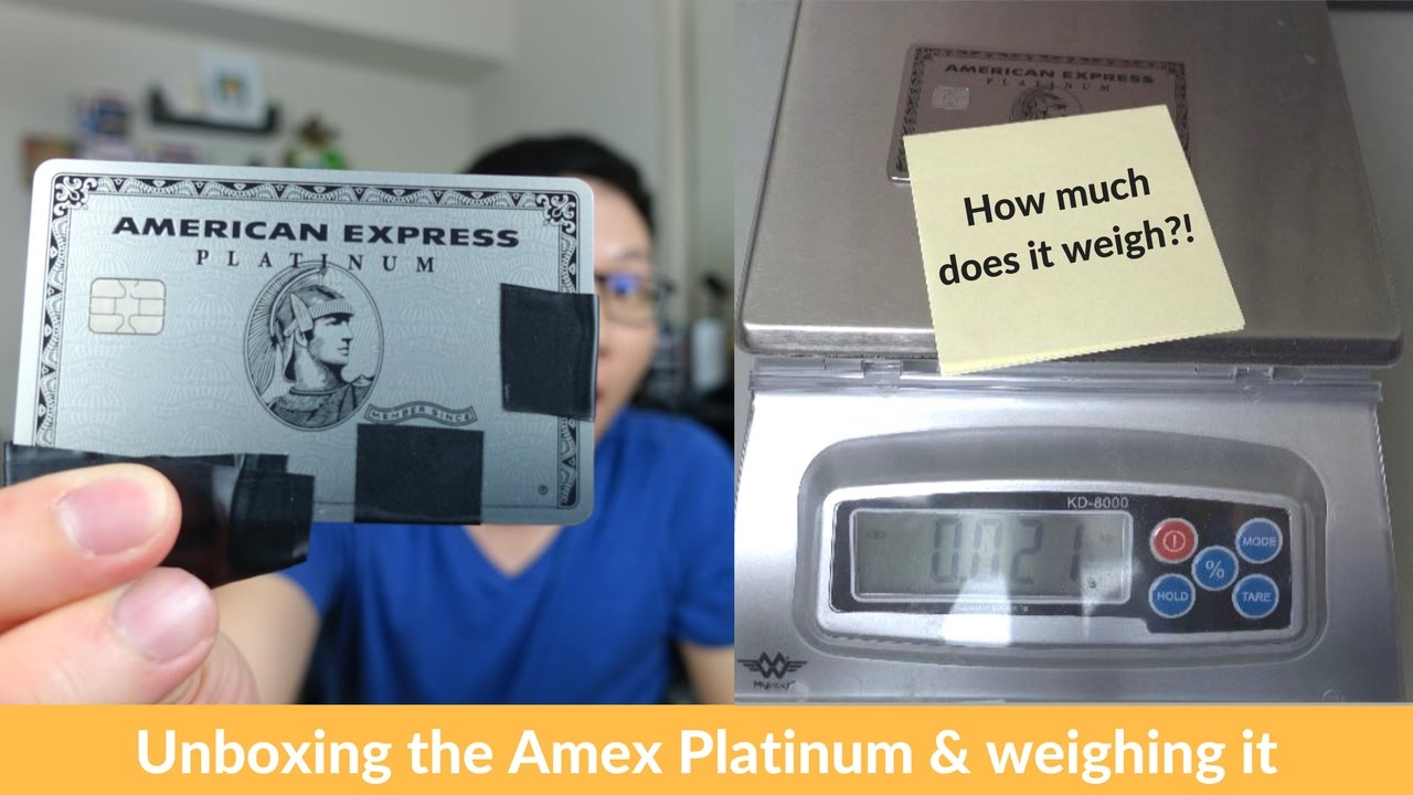 Amex Platinum Metal Card Unboxing + weighing it vs. Chase Sapphire ...