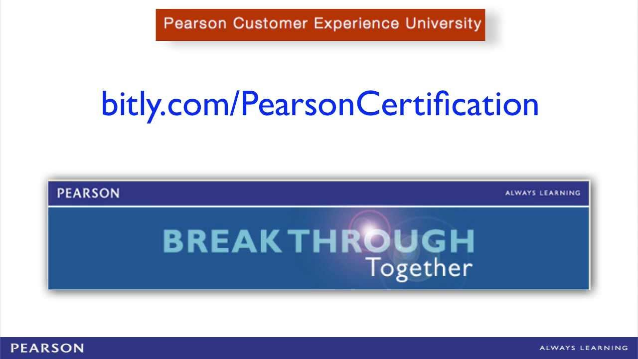 Pearson Certification Training Youtube