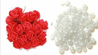 rakhi making at home | Pearl rakhi | raksha bandhan 2019 | Easy flower rakhi | Lumka rakhi