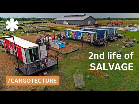 Shipping container motel honors 2nd life of salvage