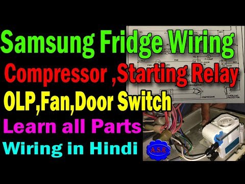 Refrigerator wiring Diagram thermostat compressor starting relay OLP on