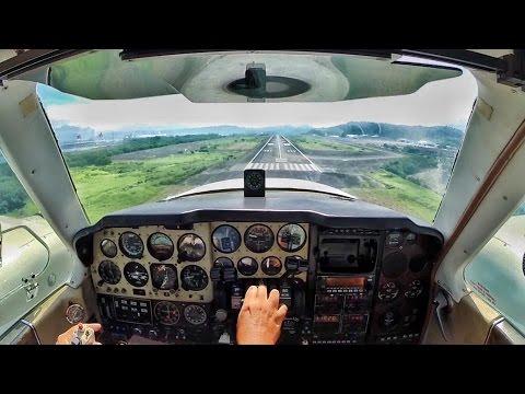 GoPro : Beechcraft Baron 58 Landing in Subic
