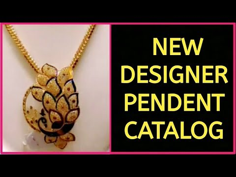 LATEST  DESIGNER  GOLD PENDENT || Latest South Indian Jewellery