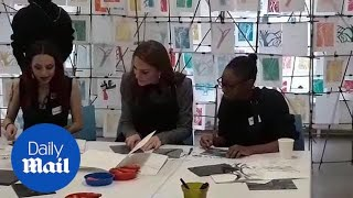 Kate Middleton meets Foundling Museum's trainees and graduates