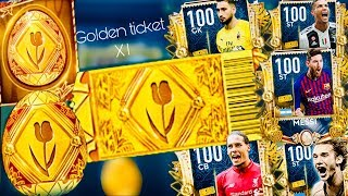 Zapętlaj GOLDEN TICKET MASTERS ! 100 OVR Golden Egg Players In fifa Mobile 19 | Golden Ronaldo and Messi | Chillboy _