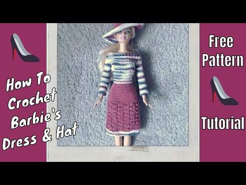 Crochet Barbie Dress - Tutorial