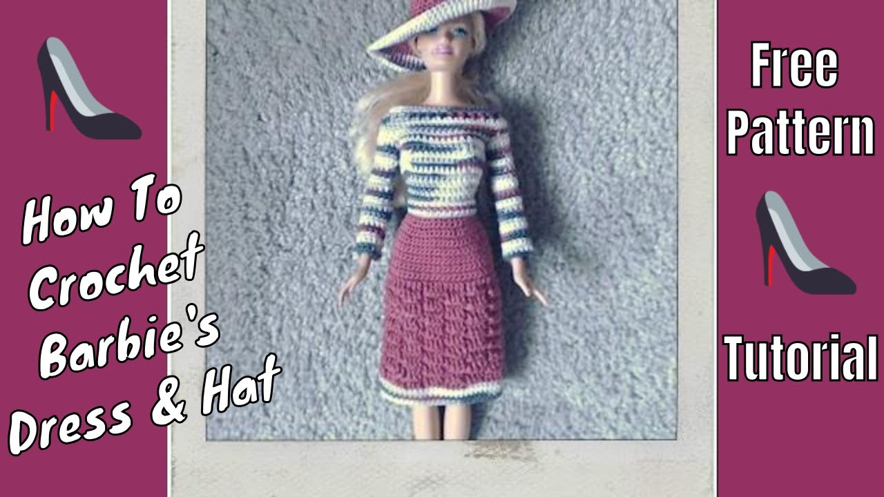 Barbie Clothes Long Sleeve Dress Hat Youtube