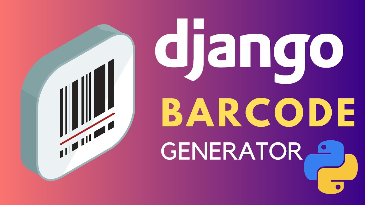 How to create barcodes in Django