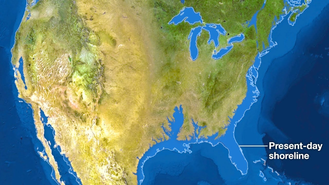 What If All Of Earths Ice Melted YouTube - Map of us after ice caps melt