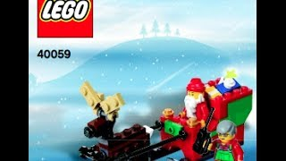 How To Build- Lego 40059 Santa And His Sleigh Holiday 2013  -instructions