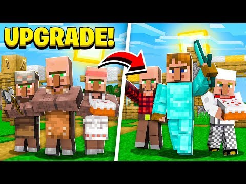 How to UPGRADE Minecraft VILLAGERS!