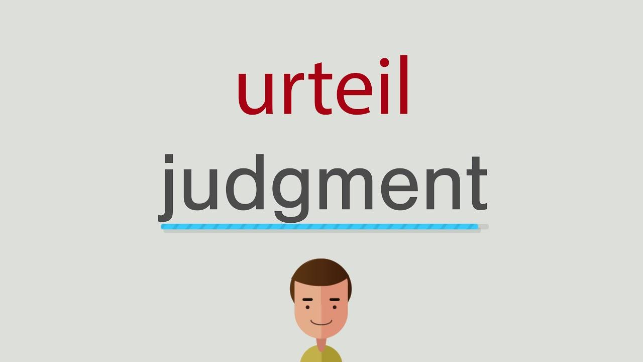 Urteil Englisch