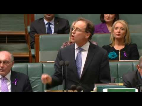 Adam asking Greg Hunt about Climate Change