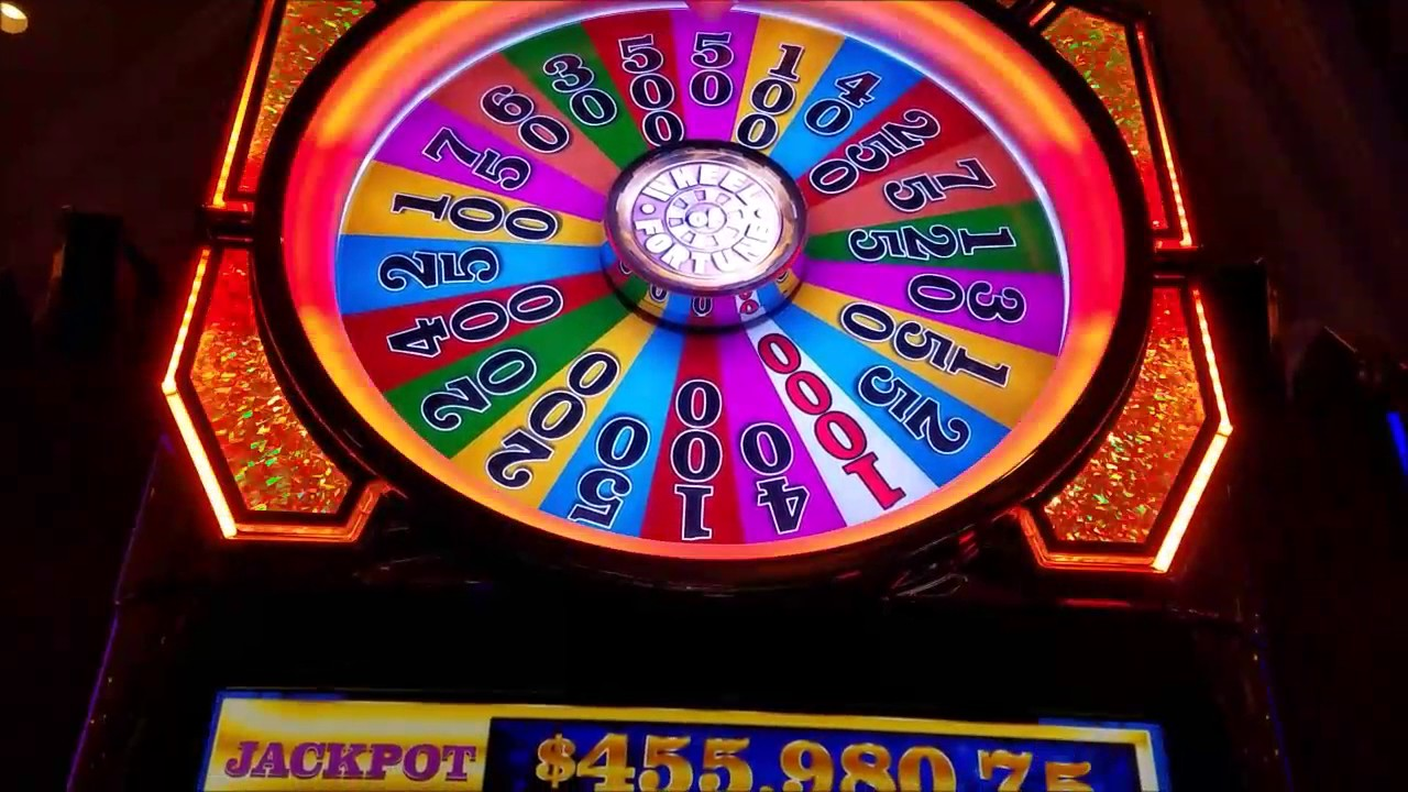 Wheel Of Fortune Slot Machine Spin Win Las Vegas Youtube