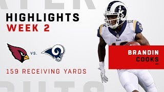 Brandin Cooks' 159 Receiving Yards vs. Arizona!