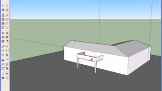 So erstellen Sie eine L-förmige 2-geschossige Haus mit Sketchup