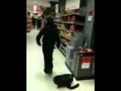 My bestfriend dancing in the supermarket...
