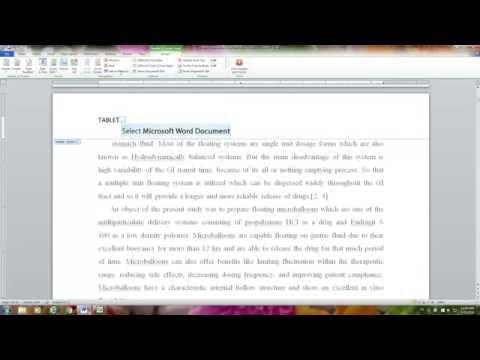 APA Format (6th) - Microsoft Word 2010