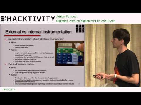 Hacktivity 2012 - Adrian Furtuna - Digipass Instrumentation for Fun and Profit