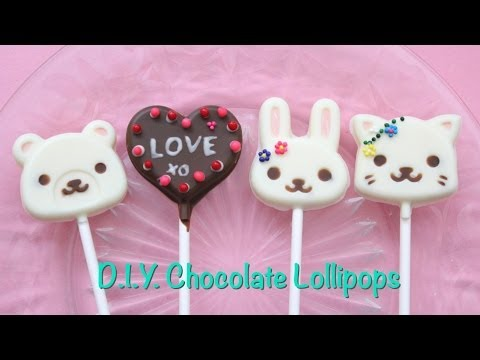 How To Make Cute Chocolate Lollipops! - YouTube