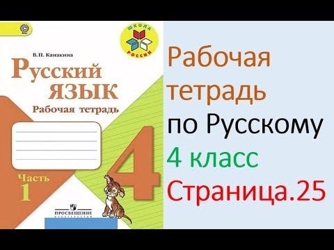 гдз по русскому языку 4 класс канакина тетрадь по страницам
