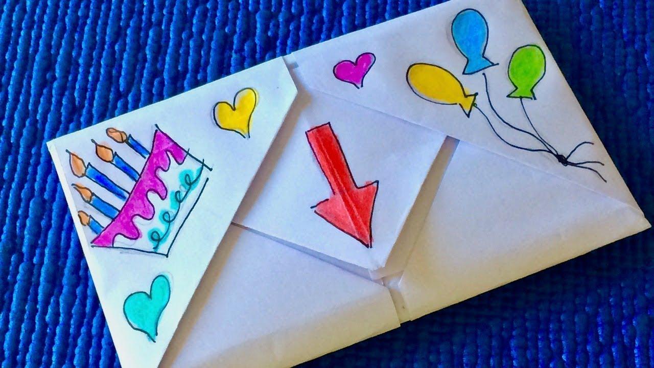 Открытка с днем рождения мальчику своими руками из бумаги