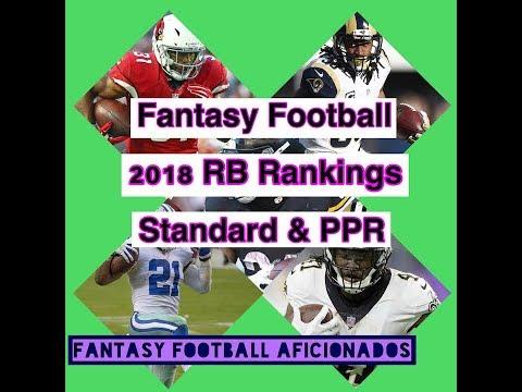 Top 20 RB Rankings 2018 Standard & PPR