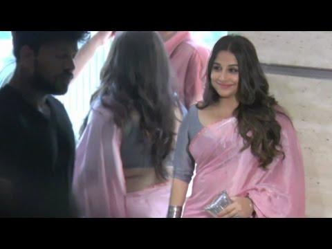 Vidya Balan Hot In Pink Saree At Party In Mumbai !!