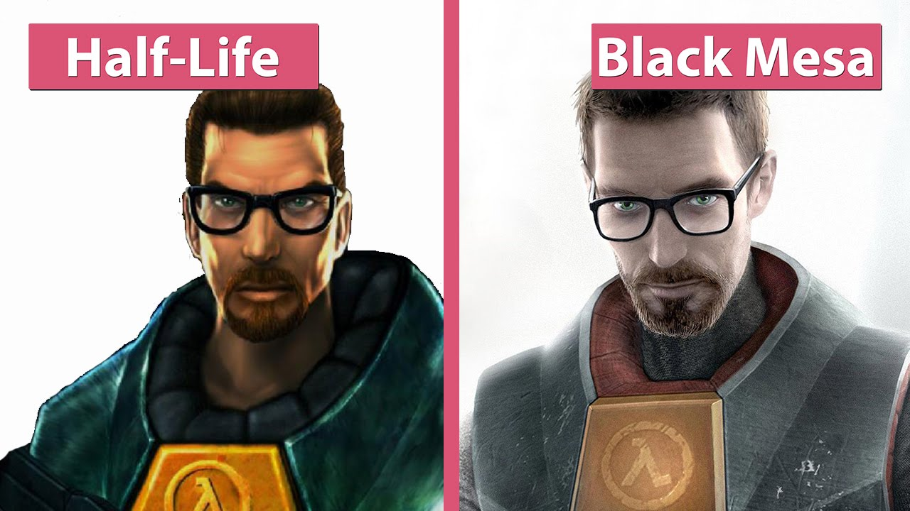 Half-Life vs  Black Mesa Graphics Comparison [60fps][FullHD|1080p]