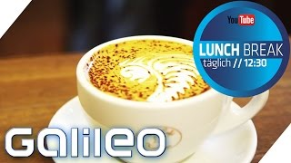Coole Muster im Cappuccino-Schaum: Barista-Tricks | Galileo Lunch Break