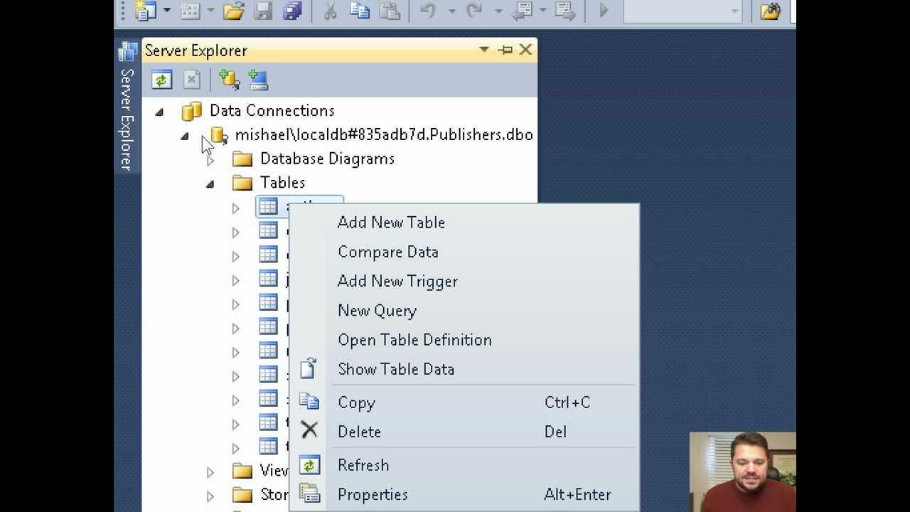 Database Diagram Visual Studio 2013 480v 3 Phase Transformer Wiring And Localdb Youtube