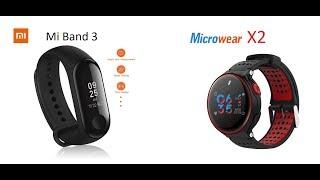 So sánh   Vòng đeo tay thông minh Mi Band 3 và Microwear X2