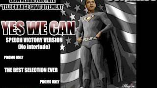 BARACK OBAMA - Yes we can - Victory speech (no interlude)