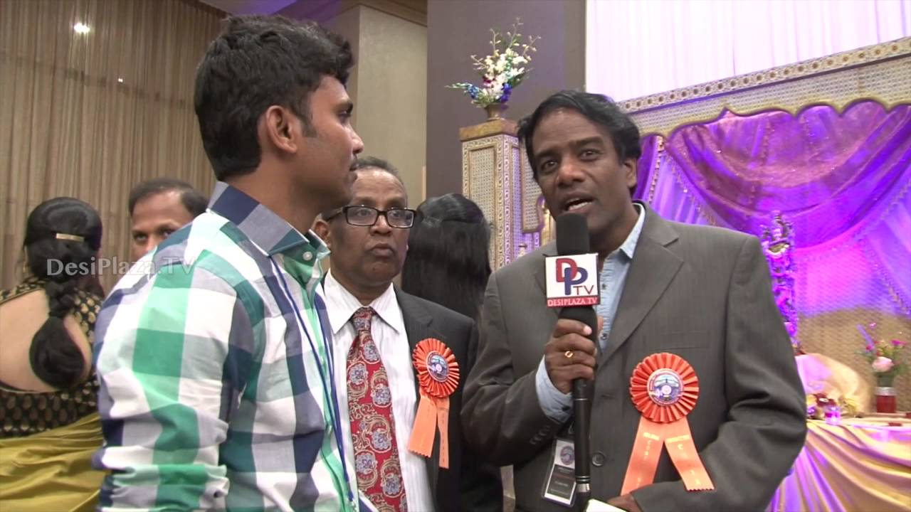 Mr.Ramraju Media Chair of Convention speaking to Desiplaza TV at ATA Convention,Chicago.
