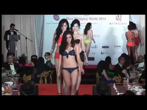 Miss Malaysia World 2014 Bikini Wear & Cute Performance