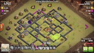 Clash of Clans Th10 Valkyrie Golem 3 yıldız saldırısı-Valkyrie Golem 3 star attack