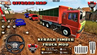 Bus Simulator Indonesia / KERALA Timber Truck MOD / Download Offroad Map - Android Gameplay HD #29